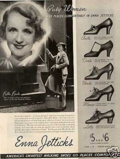 Enna Jetticks Shoes Ad Billie Burke (1935)