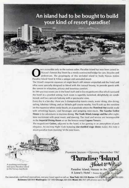 Paradise Island Hotel &amp; Villas Nassau Bahamas (1967)