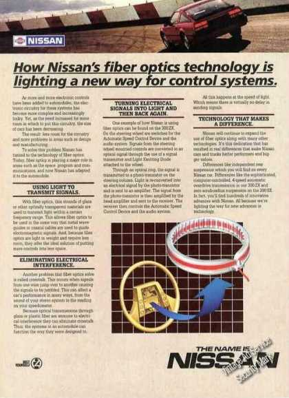 Nissan Automobile Fiber Optics Explanation (1985)