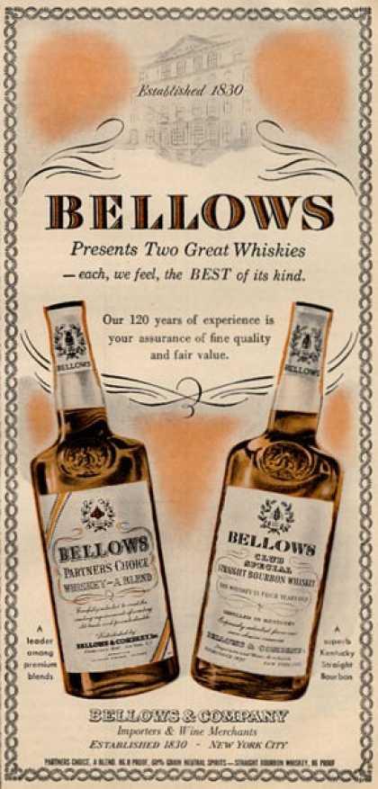 Bellows Whisky Bottle (1950)