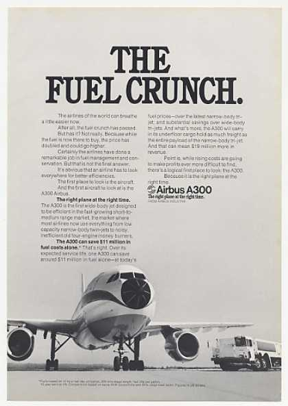 Airbus A300 Wide-Body Jet Photo Fuel Crunch (1974)