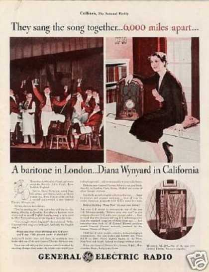 General Electric Radio Ad Diana Wynyard (1934)