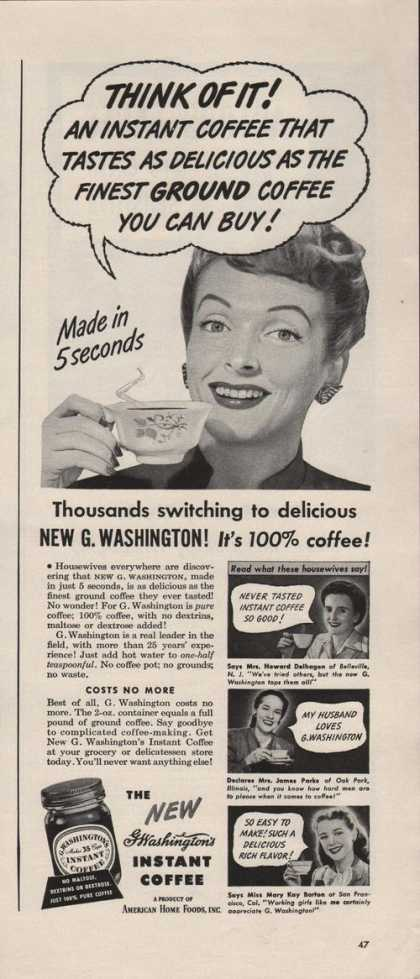 G Washington Instant Coffee (1942)