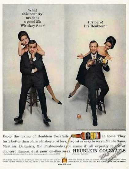 Shelley Berman Photos Heublein Cocktails (1962)