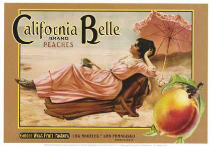 "Crate Label ""Peaches"""