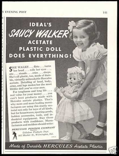 Ideal's Saucy Walker Doll Hercules Powder Co (1952)