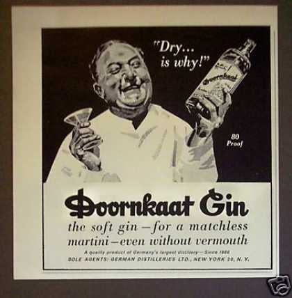 Doornkaat Gin Matchless Martini Art (1964)