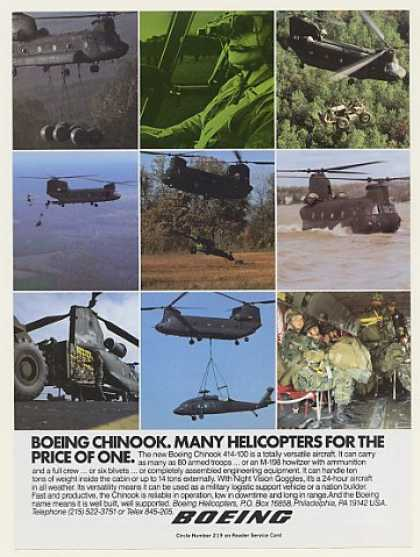 Boeing Chinook 414-100 Helicopter 9 Photo (1984)