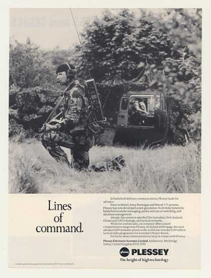 Plessey System 4000 Military Radio Photo (1987)