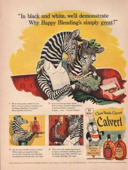 Clear Heads Choose Calvert Whisky (1942)