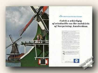Beautiful Windmills Photo Klm Royal Dutch (1967)