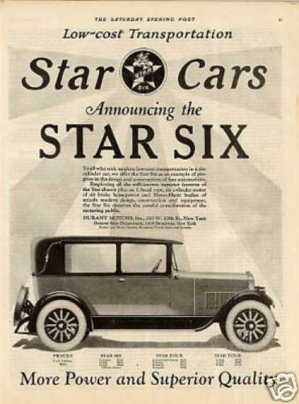Durant Motors Star Six Car (1926)