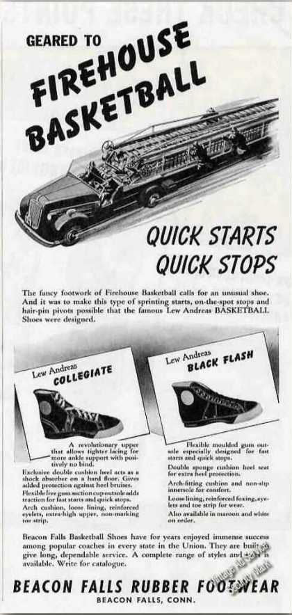 Lew Andreas Basketball Shoes Beacon Falls Ct (1941)
