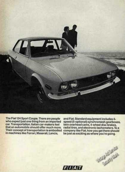 Fiat 124 Sport Coupe Photo Collectible (1970)
