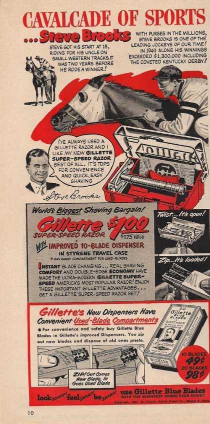 Gillette Blue Razor Blades Shaving (1951)