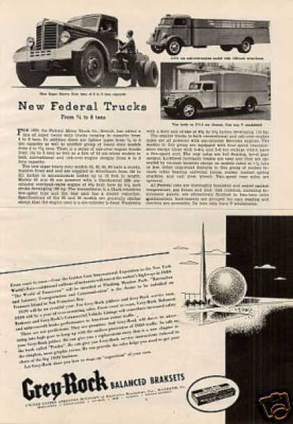"""New Federal Trucks"" Article (1938)"