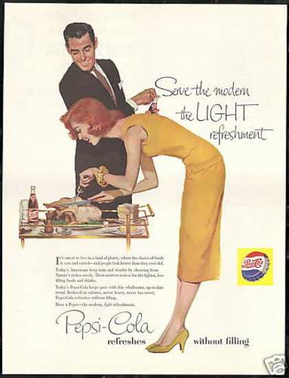 Pepsi Cola Turkey Carving Pretty Redhead (1956)