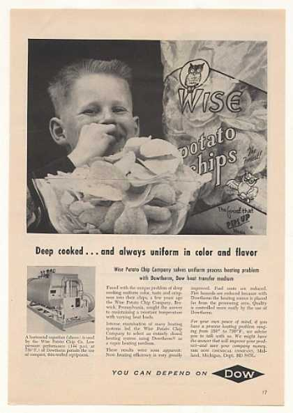 Wise Potato Chips Dow Dowtherm Heat Transfer (1957)