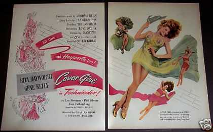Movie Ad Cover Girl Rita Hayworth Gene Kelly 2pg. (1944)