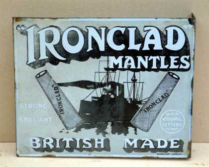 Iron Clad gas mantles Sign