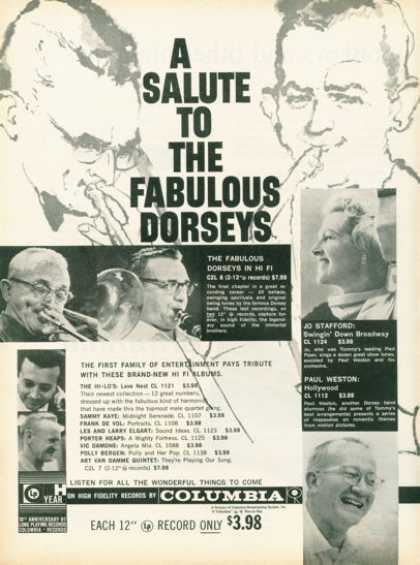 Columbia Record the Fabulous Dorseys (1958)