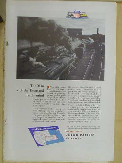 Union Pacific Railroad. The man with the thousand track mind (1941)