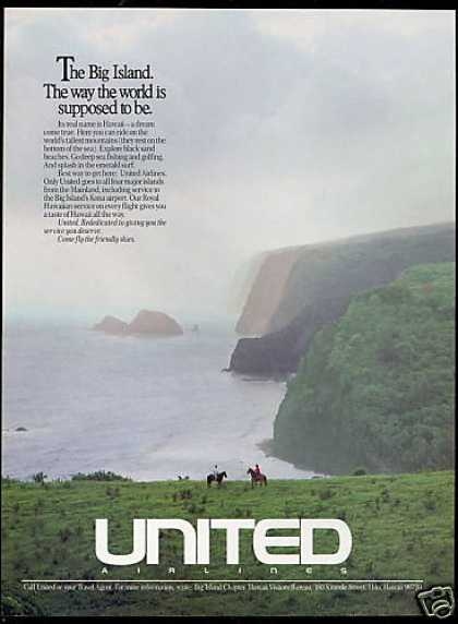 Big Island Hawaii United Airlines (1988)
