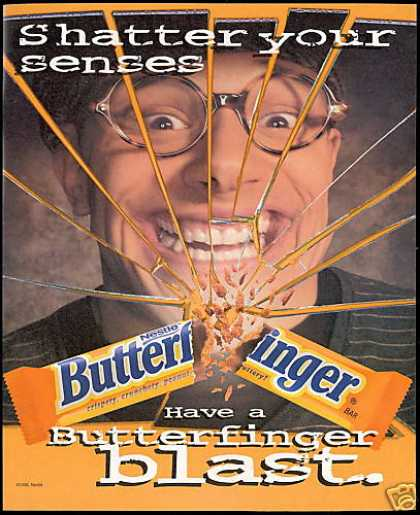 Nestle Butterfinger Candy Bar Your Senses (1996)