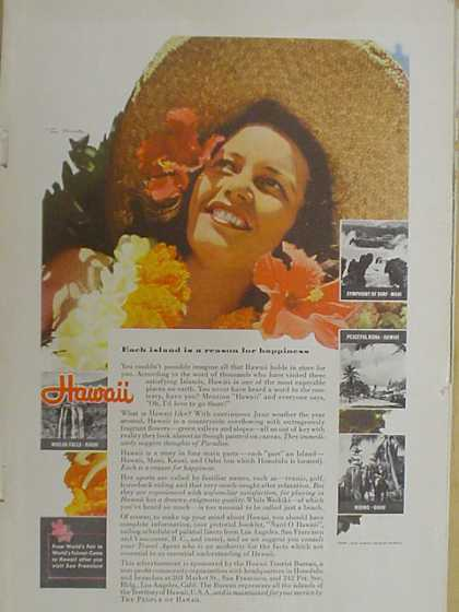 Hawaii Tourism Each island is a reason for happiness (1939)
