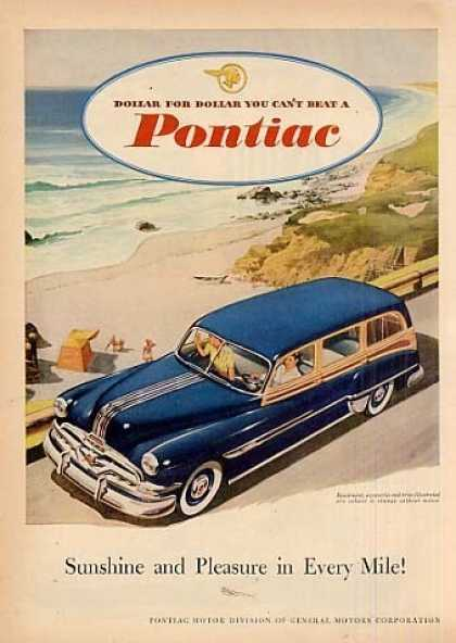 "Pontiac Wagon Ad ""Sunshine and Pleasure... (1952)"