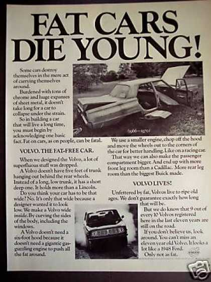 Volvo Fat Cars Die Young Car (1970)