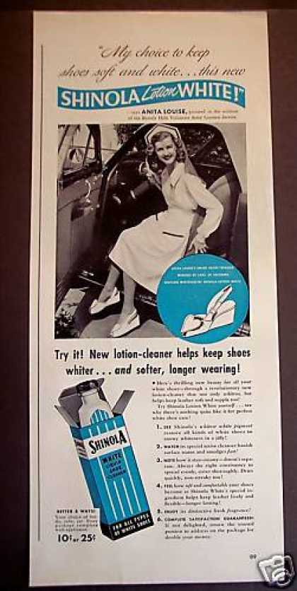 Shinola White Shoe Cleaner Anita Louise (1942)