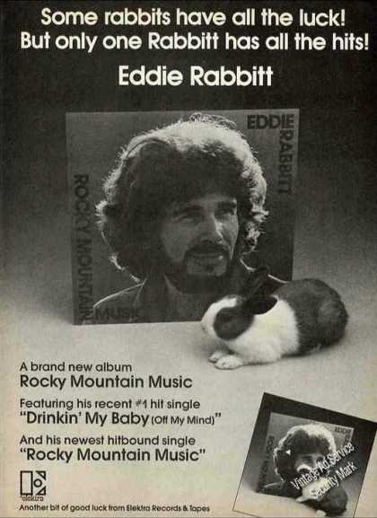 "Eddie Rabbit ""Rocky Mountain Music"" Album (1976)"
