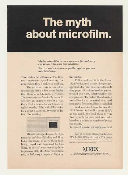 Xerox Microfilm Aperture Card Printer (1964)