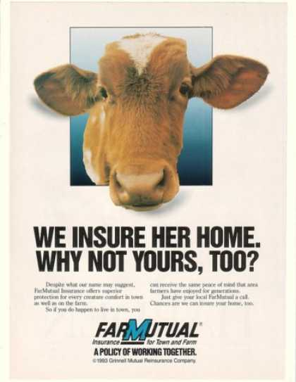 FarMutual Insurance Cow We Insure Her Home (1993)