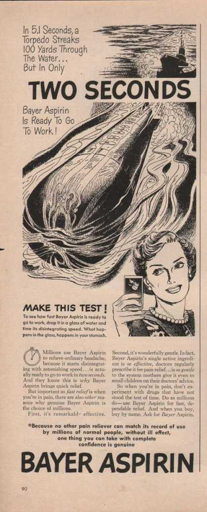 Bayer Aspirin Two Seconds (1949)