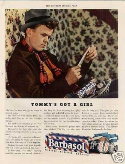 "Barbasol Shave Ad ""Tommy's Got a Girl... (1936)"