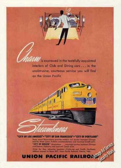 Union Pacific Railroad Charm/streamlin (1949)