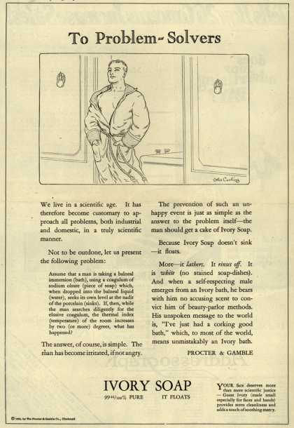 Procter & Gamble Co.'s Ivory Soap – To Problem-Solvers (1924)