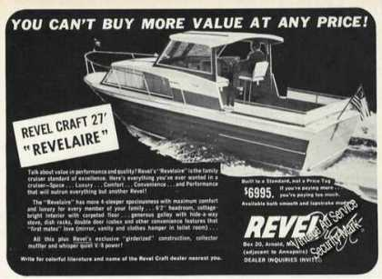 Revel Craft 27 Revelaire Boat Advertising (1965)