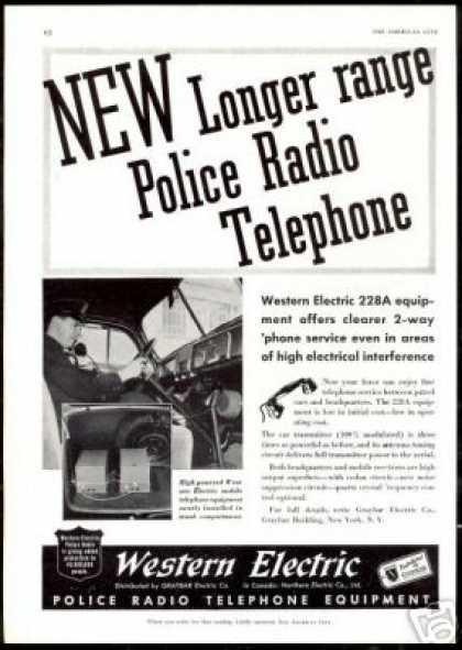 Western Electric Police 2-Way Radio Photo (1940)