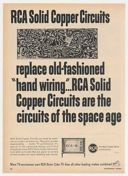 RCA Solid Copper Circuits Color TV Television (1965)