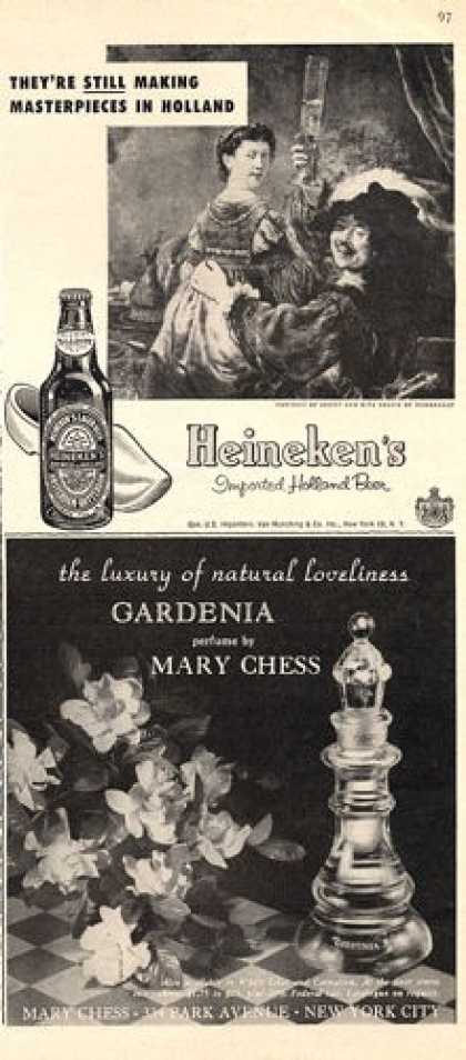 Heineken Beer Bottle Mary Chess Perfume (1953)