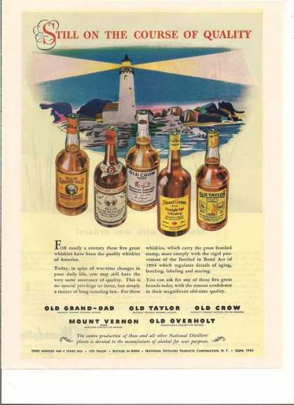 Old Crow Mount Vernon Old Taylor Whiskey A (1943)