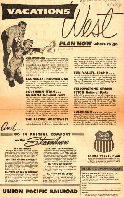 Union Pacific Railroad's West Vacations – Vacations West (1954)