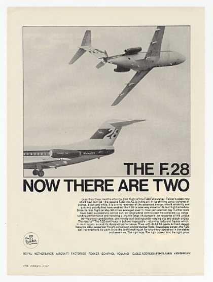 Fokker F-28 Fellowship & A2 Airplane photo (1967)
