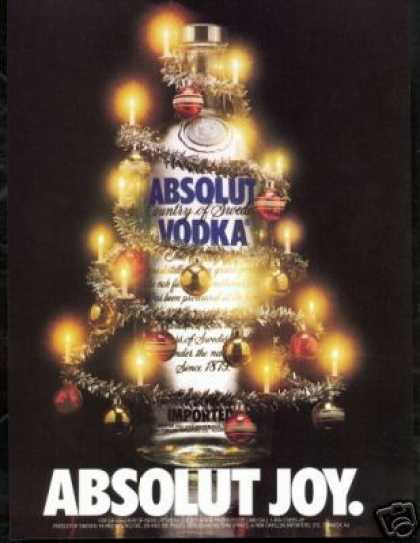 Absolut Joy Vodka Christmas Decorations (1989)