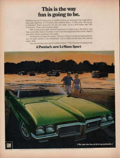 Pontiac Lemans Sport Green Car (1969)