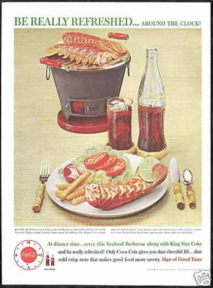 Coke Lobster Tails Hibachi Coca Cola Photo (1960)
