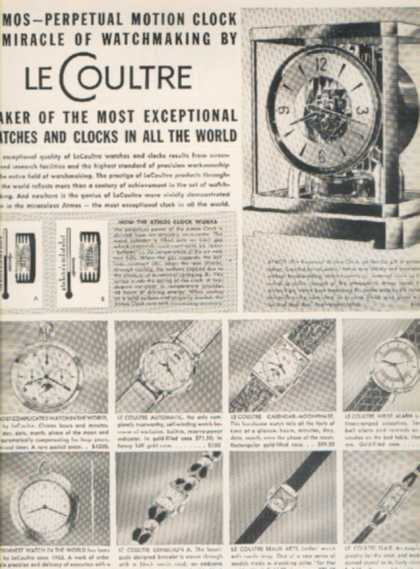 LeCoultre's Atmos-Perpetual Motion Clock (1950)